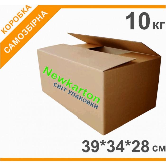 Гофрокоробка з друком 10кг - 39х34х28см, аналог Нової Пошти