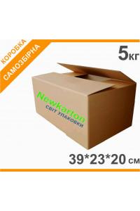 Гофрокоробка з друком 5кг - 39х39х20см, аналог Нової Пошти